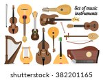 set of stringed musical... | Shutterstock .eps vector #382201165