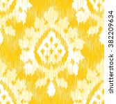 faux tribal fabric damask... | Shutterstock .eps vector #382209634
