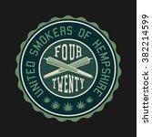 ganja marijuana weed vector... | Shutterstock .eps vector #382214599