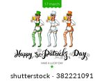 st patricks day typographic ... | Shutterstock .eps vector #382221091