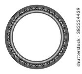 round vintage frame. isolated... | Shutterstock .eps vector #382224439