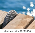 Rope Knot On A Mooring