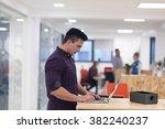 portrait of young businessman... | Shutterstock . vector #382240237