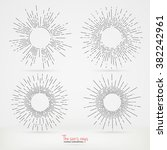 sun rays images in hand drawing ...   Shutterstock .eps vector #382242961