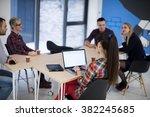 startup business team on...   Shutterstock . vector #382245685