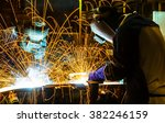 welder industrial automotive... | Shutterstock . vector #382246159