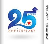 template logo 25th anniversary... | Shutterstock .eps vector #382246831