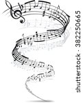music notes twisted into a... | Shutterstock . vector #382250665