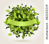 abstract bright green leaves...   Shutterstock .eps vector #382252219