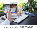 chiangmai thailand   feb 22 ... | Shutterstock . vector #382256245