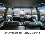 car dashboard speeds while on... | Shutterstock . vector #382263445