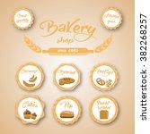 bakery labels | Shutterstock .eps vector #382268257
