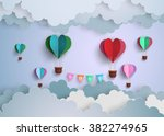 concept of love and valentine... | Shutterstock .eps vector #382274965
