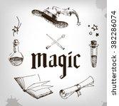 Magic Set  Wizard  Hat  Book ...