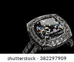 ring with diamond. sign of... | Shutterstock . vector #382297909