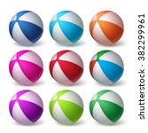 Beach Balls Vector Set In...