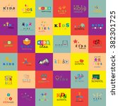 children icons set isolated on... | Shutterstock .eps vector #382301725