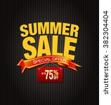 summer sale collection. vector... | Shutterstock .eps vector #382304404