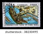 cuba circa 1980  a stamp... | Shutterstock . vector #38230495