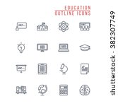 outline icons | Shutterstock .eps vector #382307749