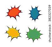 comic book speech bubble  pop...   Shutterstock .eps vector #382327039