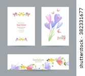 collection invitation cards... | Shutterstock .eps vector #382331677