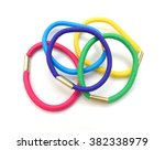 Colorful Hair Bands On White...