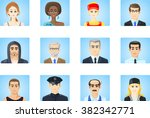 avatars people | Shutterstock .eps vector #382342771