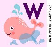 cute animal alphabet for abc... | Shutterstock .eps vector #382344007