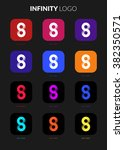 infinity ui icon logo set for...