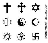 religion icon set | Shutterstock .eps vector #382352959