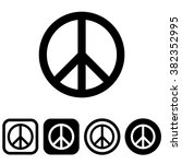 peace symbol   Shutterstock .eps vector #382352995