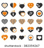 heart simply icons for web and... | Shutterstock .eps vector #382354267