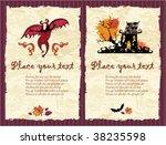 halloween textured backgrounds 3 | Shutterstock .eps vector #38235598