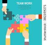 flat design illustration... | Shutterstock .eps vector #382359271