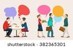 images of modern humans ... | Shutterstock .eps vector #382365301