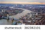 london city evening sunset.... | Shutterstock . vector #382382101