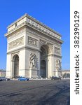 paris  france   january 07  arc ... | Shutterstock . vector #382390129