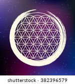 vector flower of life symbol...