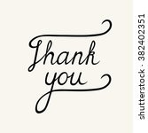 thank you phrase   hand drawn... | Shutterstock .eps vector #382402351