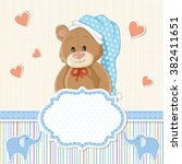 teddy bear for baby boy . baby... | Shutterstock .eps vector #382411651