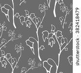 vector seamless branch ivy  | Shutterstock .eps vector #382418479