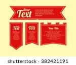 set of medieval banner flag | Shutterstock .eps vector #382421191