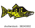 mythological image salmon vector | Shutterstock .eps vector #38243302
