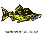 mythological image salmon vector | Shutterstock .eps vector #38243302