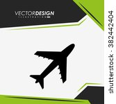 airplane icon design  | Shutterstock .eps vector #382442404
