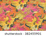 detailed pattern of batik cloth | Shutterstock . vector #382455901