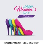 happy womens day design  | Shutterstock .eps vector #382459459