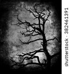 beautiful vintage grunge scary... | Shutterstock . vector #382461391