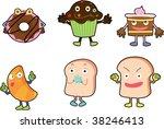 illustration of various food... | Shutterstock .eps vector #38246413